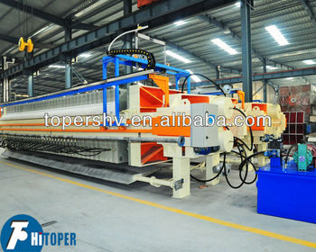 Automatic varicose plate frame slurry filter press