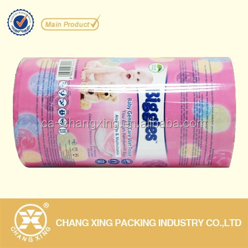 Printed polyester palstic wrapping film roll for biscuit cookie bag