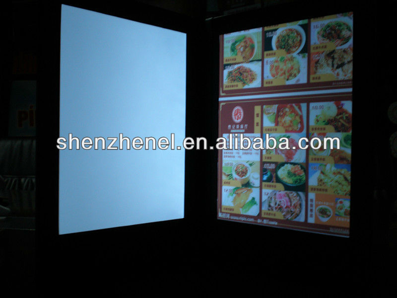fatory manufacture patent LED lighted illuminated menu cover M8511 used for A4 paper