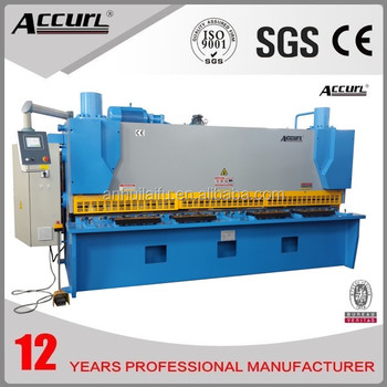 2014 'AccurL' Hydraulic Control Shearer with Swing Beam Machine QC12Y-30x2500