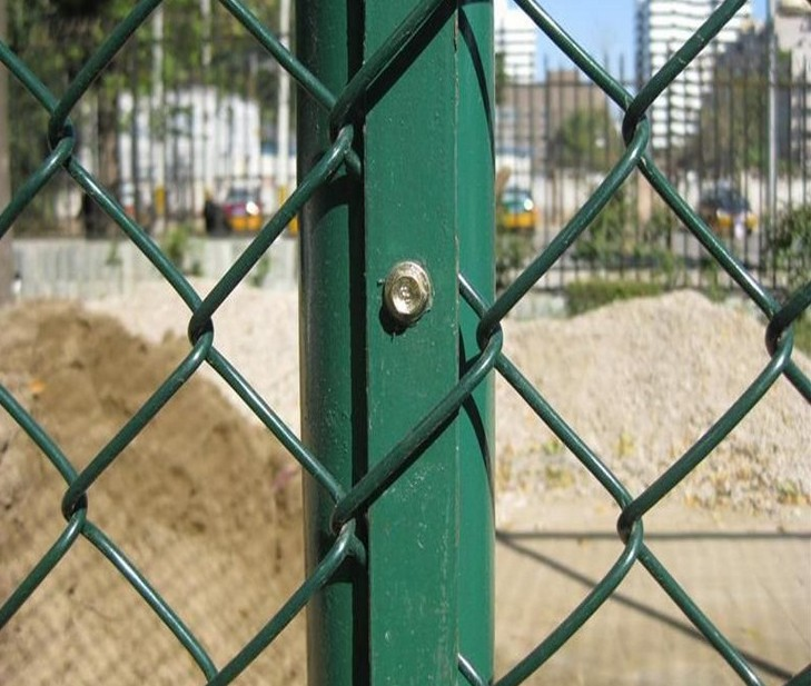 High strength security chain link fence for sport field