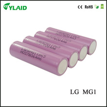 Newest wholesale in stock cheapest authentic 18650 lg mg1 lithium ion car battery