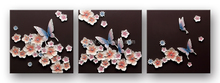2017 wholesale factory price butterflies flowers C6073B 100% handmade 3D art natural wall decor painting for home