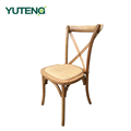 Wood design armrest cross back dining room dining chair