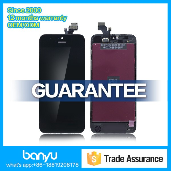 Oem replacement back cover touch digitizer lcd display for iphone 5