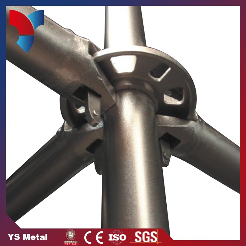 Concise design used construction ringlock scaffolding pole