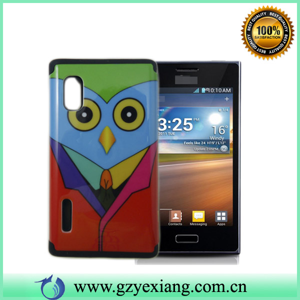 New design 2 in 1 combo cover case for lg optimus l5 e610