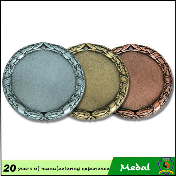 customized make blank medal with gold,sliver and bronze blank metal medal blanks (HH-medal-034)