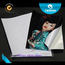 Yesion 2015 Hot Sales! High Sticker Photo Paper/ Inkjet Glossy Self-adhesive Photo Paper