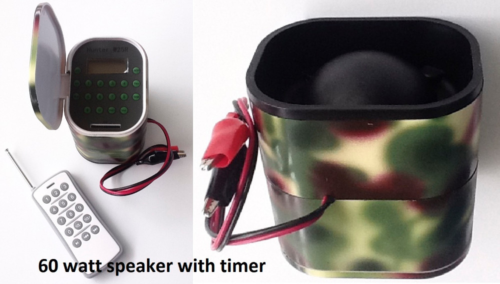 2015 New Model Mp3 Bird Caller 60W for hunting with Timer and Remote with 15 keys