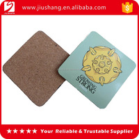 Factory supply MDF cork backed coaster with personalized design
