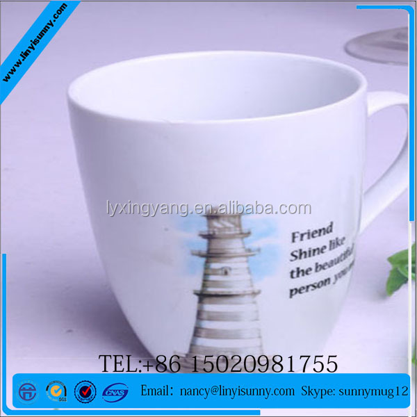 new advertising doraemon printed ceramic kids gift mug with lid
