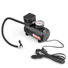 AC/DC Swift Performance Portable Air Compressor Tire Inflator with Analog Display for Home (110V) and Car (12V) - 18/20 Litres/M