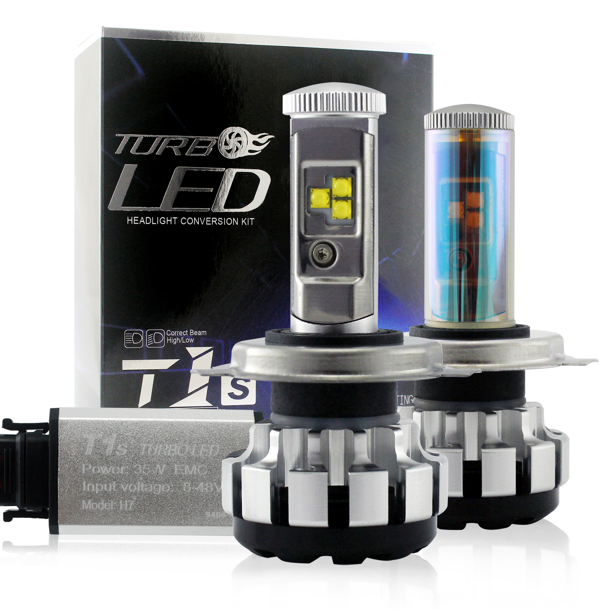 35W 40W led <strong>headlight</strong> New Turbo LED T1S LED head Lamp better than xenon <strong>hid</strong> lights H4 H7 H11 9005 9006