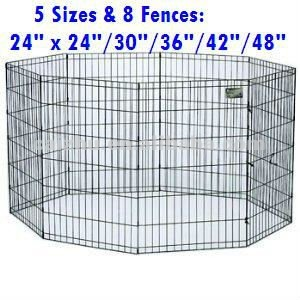 5 sizes of black dog exercise pen 8 fence collapsible dog crate - Collapsible Dog Crate