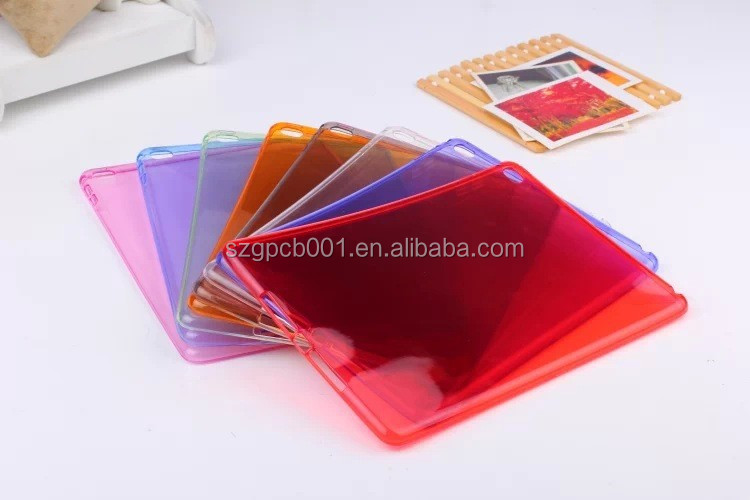 TPU Quality Tpu Crystal Clear Transparent Silicon Rubber Gel Soft Protective Case Cover for Apple iPad Air 2 free sample service