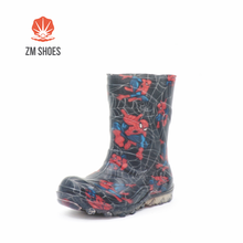 Plastic rain boots for children with custom printing
