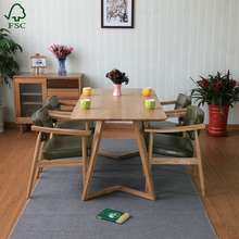Hot sell japanese style unusual solid oak dining table sets with great quality