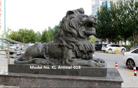 outdoor Garden decorative large bronze lions