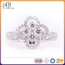 Wholesales Jewellery Platinum Pt900 Diamond Ring