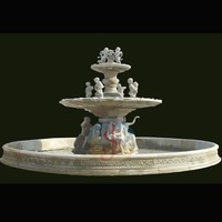 popular design natural marble/marble fountain with great price