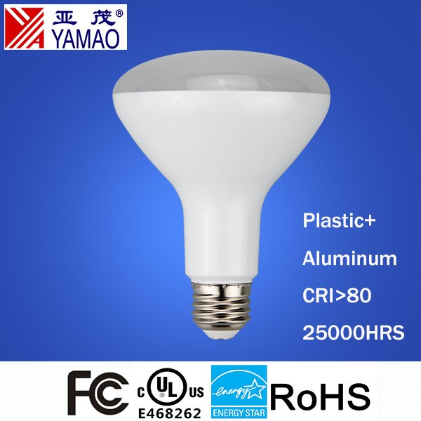 Yamao UL FCC Energy Star Certified E26 Daylight 65W Equivalent LED BR30 Dimmable Bulbs