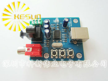 PCM2704 USB DAC USB Power fiber optic coaxial analog output USB sound card decoding plate