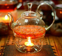 heat resistant glass tea pot clear glass and cups low price