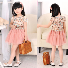 Baby Girl flower Cotton Print Baby Frocks Designs Daily Floral Pastoral Style Summer Children Dress D006