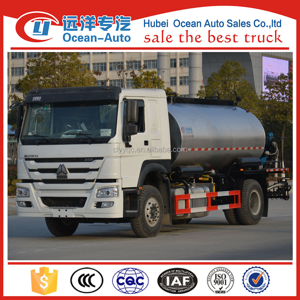 NEW howo brand 10cubic meter intelligent asphalt distributor truck with half intelligent machine for sale
