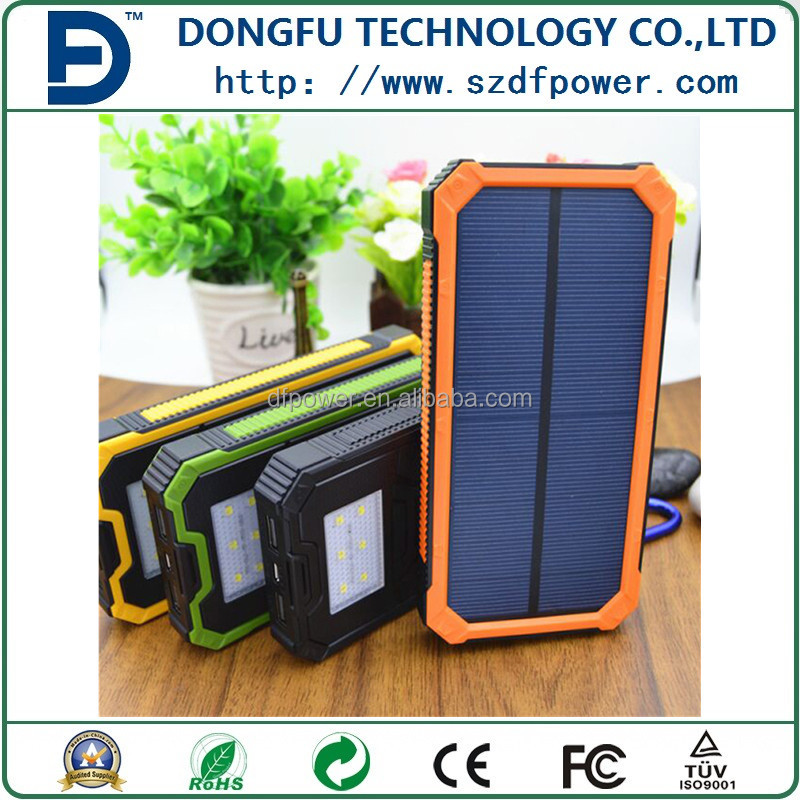 2016 Portable Solar Power Bank charger manufacturer 10000mAh For <strong>Cell</strong> <strong>Phone</strong>