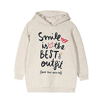 Winter Cotton Girl's Gray Hoodie & Sweatshirt Wholesale In Guangzhou China