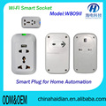 W908II WIFI control electric wall switch socket 220v with power timing delay detection summary functions