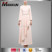 2016 Latest Burqa Designs Picture Muslim Ladies Wear Pink Abaya Wholesale China