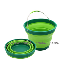 Protable Foldable Houseware Collapsbile Plastic Bucket for outdoors