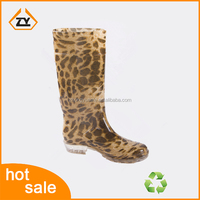 2016 hot sale Ladies Fashion Shoes ,plastic boots for rain With sexy leopard Printing ,alibaba chinas shoes for women