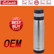 popular design coffee thermos vacuum insulated stainless steel water bottle (0.5 0.75 1L)