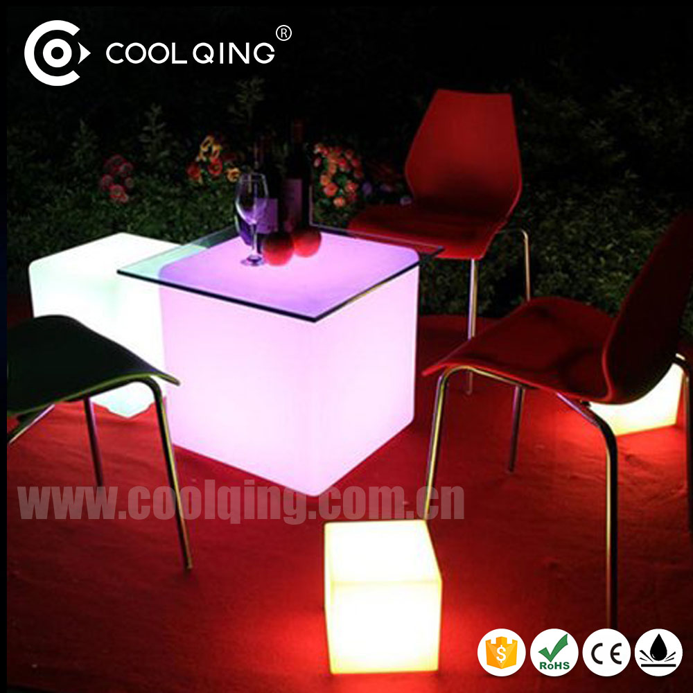 fashionable 3D Color led cube / outdoor glowing cube / light up chair