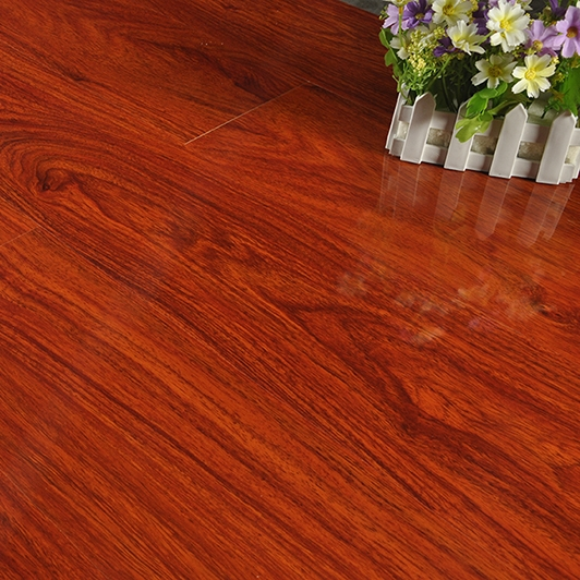 most popular cherry color walnut warm finish 12mm laminate flooring