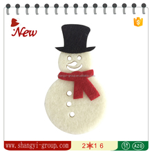 XM4-02 Laser cut felt christmas snowman decoration with hat and scarf