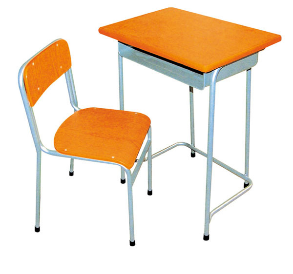 Cheap Single Middle School Student Desk And Chair
