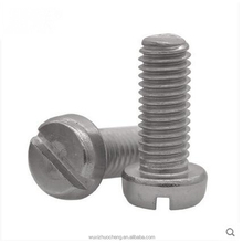 DIN84 Stainless Steel Slotted Cheese Head Machine Screw Slotted Cylinder Head Screw With Slotted Head Screw