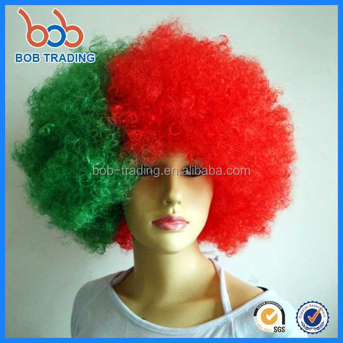 bob trading body wave short sports fans wig football fan wig blue