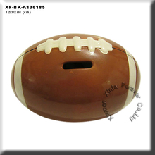 unique unpainted ceramic football bank