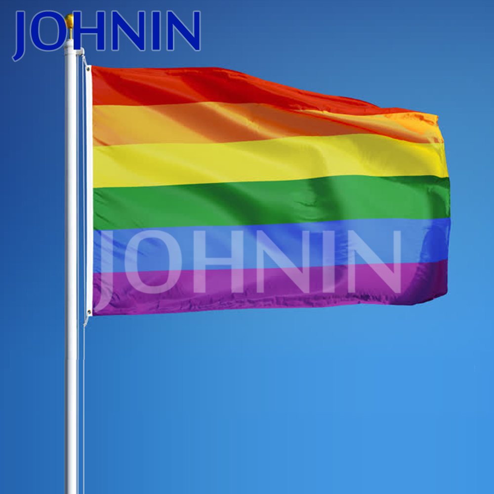 Flying 3 *5ft for Pride Parades Rainbow Gay Pride Flag