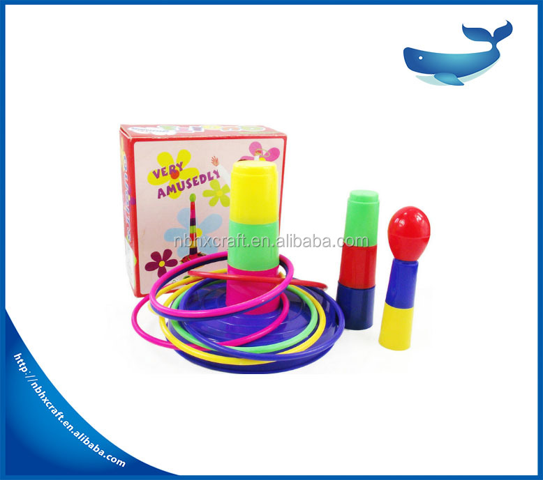 Intelligent colorful plastic circle toys ring toss game
