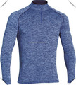 Lightweight stretch Anti-microbial polyester spandex dry fit performance Men's 1/4 Zip fitness pullover shirts wholesale