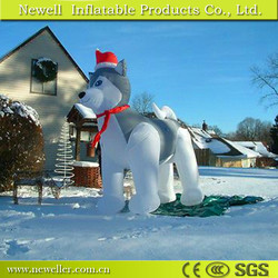 Newest wholesale husky dog christmas inflatable With logo