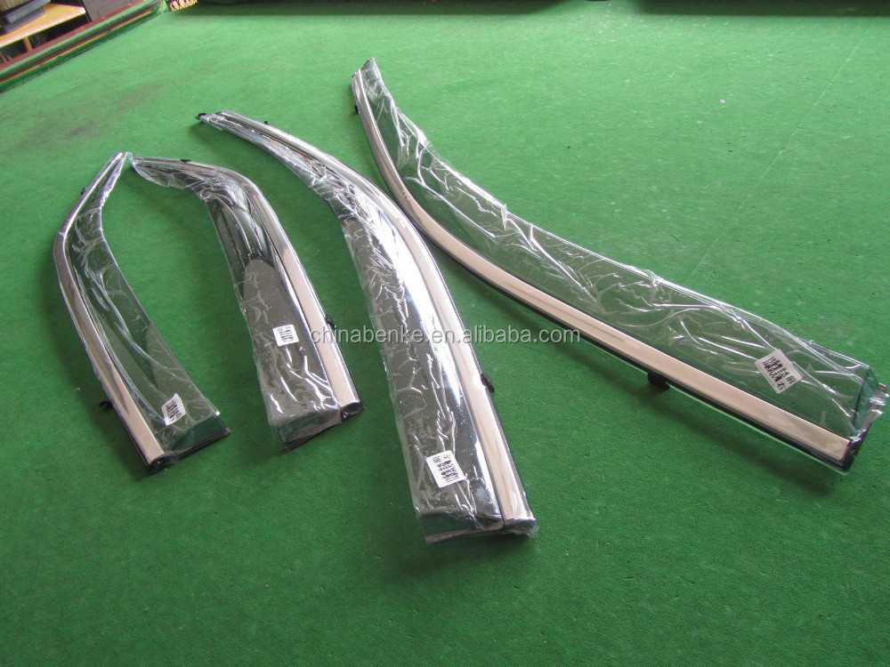 For KIA K2 RIO SEDAN Car Injection Window Deflectors Vent Visor, High quality Deflector with stainless steel.