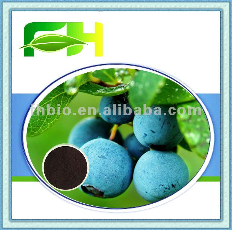 100% Natural Blueberry P.E.-Anthocyanidins 5%-25%(HPLC)/CAS NO.:84082-34-8